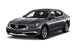 2020 Acura TLX AUTO 4 Door Sedan angular front stock photos of front three quarter view