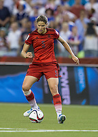 Montreal, Canada - June 30, 2015:  The USWNT (white) and Germany (red) in Semi-Final action during FIFA Women's World Cup 2015 at Olympic Stadium.