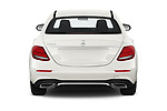 Straight rear view of a 2019 Mercedes Benz E-class 300 4 Door Sedan stock images