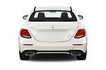 Straight rear view of a 2019 Mercedes Benz E-class 300 4 Door Sedan stock images