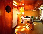 Kitchen interior of a 1951 Spartanette.
