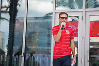 Orlando, FL - Friday Oct. 06, 2017: Jimmy Conrad during a 2018 FIFA World Cup Qualifier between the men's national teams of the United States (USA) and Panama (PAN) at Orlando City Stadium.