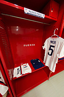 ZAPOPAN, MEXICO - MARCH 21: Jersey of Justen Glad #4 of the United States before a game between Dominican Republic and USMNT U-23 at Estadio Akron on March 21, 2021 in Zapopan, Mexico.