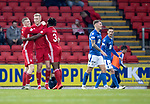 St Johnstone v Aberdeen…..24.11.19   McDiarmid Park   SPFL<br />Sam Cosgrove celebrates his goal<br />Picture by Graeme Hart.<br />Copyright Perthshire Picture Agency<br />Tel: 01738 623350  Mobile: 07990 594431