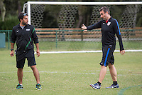 Orlando, FL - Friday Oct. 14, 2016:   A candidate listens to lead instructor Vanni Sartini during a US Soccer Coaching Clinic in Orlando, Florida.