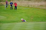 ISPS Handa Wales Open Golf day two :  Lee Westwood chips out of the sand bunker onto the 10th green at the Celtic Manor course in Newport, UK this afternoon.