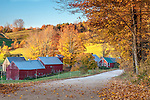 Autumn sunrise on the Jenne Farm in Reading, VT, USA