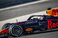 27th March 2021; Sakhir, Bahrain; F1 Grand Prix of Bahrain, Qualifying sessions;  VERSTAPPEN Max (ned), Red Bull Racing Honda RB16B during Formula 1 Gulf Air Bahrain Grand Prix 2021 qualifying as he takes pole