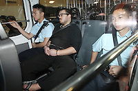 British banker 29-year-old Rurik Jutting, charged with the murder of two Indonesians in Hong Kong leaves court. 03-Nov- 2014<br /> <br /> PHOTO BY SINOPIX<br /> <br /> 03-Nov- 2014