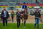 TORONT,CANADA-SEP 15: Abscond,ridden by Irad Ortiz jr, after winning the Natalma Stakes at Woodbine Race Track on September 15,2019 in Toronto,Ontario,Canada. Kaz Ishida/Eclipse Sportswire/CSM