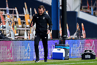 17th October 2020; Kenilworth Road, Luton, Bedfordshire, England; English Football League Championship Football, Luton Town versus Stoke City; Luton Town Manager Nathan Jones shows his frustration at a breakdown of an attack