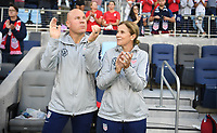 Saint Paul, MN - SEPTEMBER 03: Graeme Abel, Jill Ellis of the United States during their 2019 Victory Tour match versus Portugal at Allianz Field, on September 03, 2019 in Saint Paul, Minnesota.