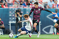 DENVER, CO - JUNE 6: Josh Sargent #9 of the United States moves with the ball during a game between Mexico and USMNT at Mile High on June 6, 2021 in Denver, Colorado.