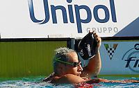 Trofeo Settecolli di nuoto al Foro Italico, Roma, 13 giugno 2013.<br /> Fabio Scozzoli, of Italy, reacts after winning in the men's 100 meters breaststroke at the Sevenhills swimming trophy in Rome, 13 June 2013.<br /> UPDATE IMAGES PRESS/Isabella Bonotto