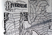 Riverside: General Plan, Olmsted, Vaux & Co. 1869. MAYER & WADE, CHICAGO, P.183. Reference only.
