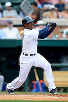 Detroit Tigers outfielder Austin Jackson #14 during a Spring Training game against the New York Mets at Joker Marchant Stadium on March 11, 2013 in Lakeland, Florida.  New York defeated Detroit 11-0.  (Mike Janes/Four Seam Images)