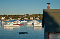 Boats, Bass Harbor, Maine, ME, USA