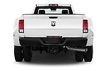 Straight rear view of 2018 Ram Ram-3500-Pickup Tradesman-Regular-cab 4 Door Pick-up Rear View  stock images