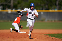 Michael Lavanga (5) running the bases during the Perfect Game National Underclass East Showcase on January 23, 2021 at Baseball City in St. Petersburg, Florida.  (Mike Janes/Four Seam Images)