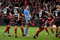 1st May 2021; Bankwest Stadium, Parramatta, New South Wales, Australia; A League Football, Western Sydney Wanderers versus Sydney FC; Bobo of Sydney stands frustrated after missing a penalty
