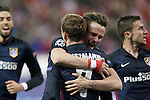 Atletico de Madrid's Yannick Carrasco, Saul Niguez, Antoine Griezmann and Gabi Fernandez celebrate goal during Champions League 2015/2016 Quarter-Finals 2nd leg match. April 13,2016. (ALTERPHOTOS/Acero)