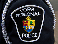 York Regional Police badge is seen during a police memorial parade in Ottawa Sunday September 26, 2010.