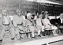 Iraq 1970 .Nawpurdan: 8th  congress of KDP, second left to right, Nouri Shawess, Mustafa Barzani, Kamuran Bedir Khan and his wife Natacha.<br /> Irak 1970.Nawpurdan: Celebration du 8eme congres du PDK , 2eme a gauche, Nouri Shawess, Mustafa Barzani, Kamuran Bedir Khan et sa femme Natacha