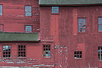 Red barn detail, Hancock Shaker Village, Massachusetts, USA