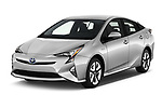 2018 Toyota Prius lounge 5 Door Hatchback angular front stock photos of front three quarter view