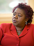 TORRINGTON, CT-122017JS12---Denise L. Clemons, Superintendent of Torrington Public Schools, talks about her first year running the district and the goals and challenges that lay ahead. <br /> Jim Shannon Republican-American
