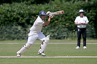 Craig Perrin in batting action for Harold Wood during Brentwood CC (bowling) vs Harold Wood CC, Hamro Foundation Essex League Cricket at The Old County Ground on 12th June 2021