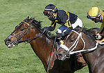 April 03, 2021: Bound For Nowhere #13 ridden by Joel Rosario outlasts Imprimis #2 ridden by Paco Lopez to win the Shakertown Stakes (Grade 2) on Blue Grass Stakes Day at Keeneland Race Course in Lexington, Kentucky on April 03, 2021. Candice Chavez/Eclipse Sportswire/CSM