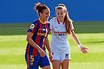 Liga IBERDROLA 2020-2021. Jornada: 12<br /> FC Barcelona vs Sevilla: 6-0.<br /> Melanie Serrano & Carla Armengol.