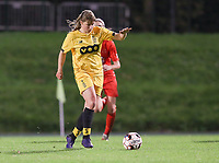 Standard's Aster Janssens (5) with the ball during a female soccer game between FC Femina WS Woluwe and Standard Femina de Liege on the fourth match day of the 2020 - 2021 season of Belgian Womens Super League , Friday 8th of October 2020  in Liege , Belgium . PHOTO SPORTPIX.BE   SPP   SEVIL OKTEM