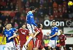 Aberdeen v St Johnstone…08.12.18…   Pittodrie    SPFL<br />Joe Shaughnessy heads in saints first goal<br />Picture by Graeme Hart. <br />Copyright Perthshire Picture Agency<br />Tel: 01738 623350  Mobile: 07990 594431