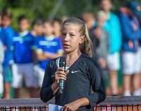 Hilversum, Netherlands, August 7, 2017, National Junior Championships, NJK, Isis va Broek<br /> Photo: Tennisimages/Henk Koster