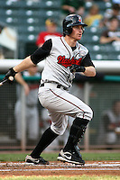 August 12, 2009: Mat Gamel of the Nashville Sounds, Pacific Cost League Triple A affiliate of the Milwaukee Brewers, during a game at the Spring Mobile Ballpark in Salt Lake City, UT.  Photo by:  Matthew Sauk/Four Seam Images