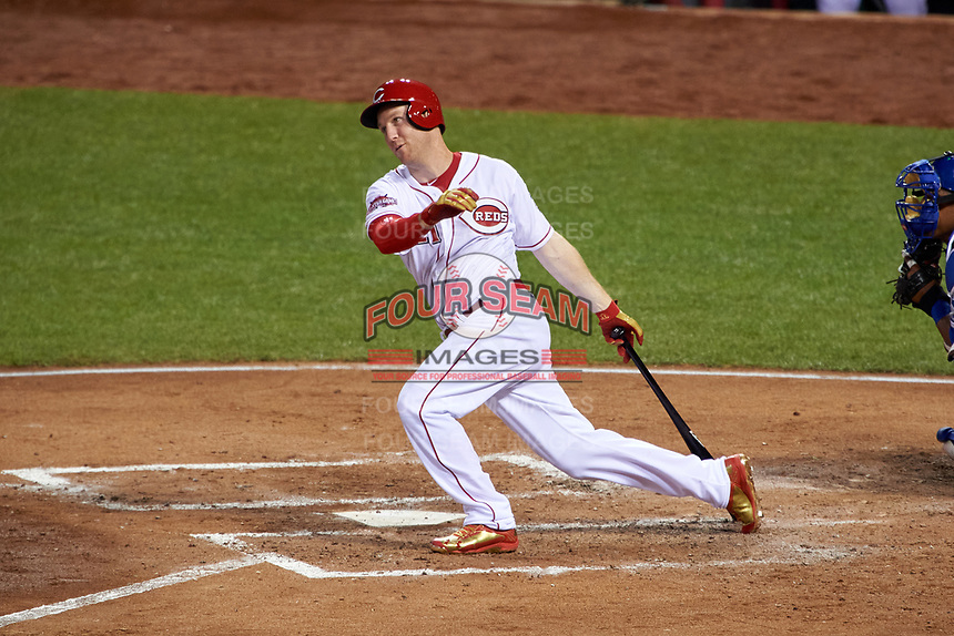 Cincinnati Reds Todd Frazier bats during the MLB All-Star Game on July 14, 2015 at Great American Ball Park in Cincinnati, Ohio.  (Mike Janes/Four Seam Images)