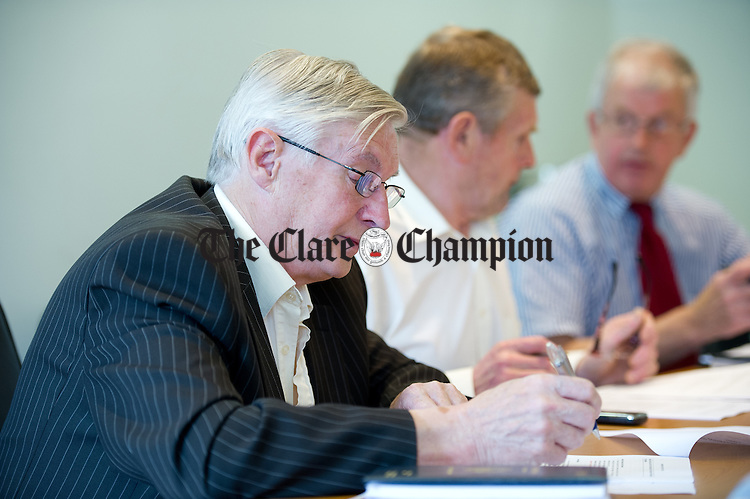 Independent Councillor Michael Begley at the Killaloe Municipal District inaugural meeting in Scariff. Photograph by John Kelly.
