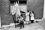 Black British asian Muslim family mother and children boys and girls 1980s UK Blackburn Lancashire  1983