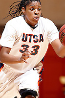 SAN ANTONIO, TX - MARCH 4, 2009: The Texas State University Bobcats vs. The University of Texas at San Antonio Roadrunners Women's Basketball at the UTSA Convocation Center. (Photo by Jeff Huehn)