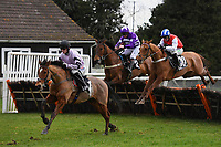 Winner of The That Friday-Ad Feeling Novices' Hurdle   Calva D'Auge(1)  ridden by Harry Cobden and trained by Paul Nicholls during Horse Racing at Plumpton Racecourse on 10th February 2020