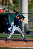 Lakeland Flying Tigers Cole Peterson (9) during a Florida State League game against the Dunedin Blue Jays on April 18, 2019 at Jack Russell Memorial Stadium in Clearwater, Florida.  Dunedin defeated Lakeland 6-2.  (Mike Janes/Four Seam Images)