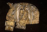 Europe/France/Auvergne/12/Aveyron/Conques: Trésor - Devant l'autel fragments argent, vermeil - Xème