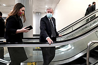 Sen. Lindsey Graham (R-S.C.) arrives at the Capitol on Wednesday, February 10, 2021 for the second day of the impeachment trial of former President Donald Trump.<br /> CAP/MPI/RS<br /> ©RS/MPI/Capital Pictures