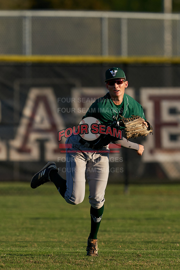 Venice Indians outfielder Michael Robertson (12) during practice before a game against the Braden River Pirates on February 25, 2021 at Braden River High School in Bradenton, Florida.  (Mike Janes/Four Seam Images)