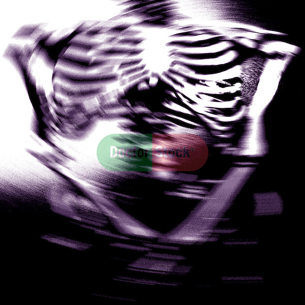 abstract photo illustration of ribs and torso of human skeleton