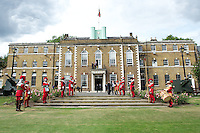 20120823 Copyright onEdition 2012©.Free for editorial use image, please credit: onEdition..General view of The Honourable Artillery Company, London before the pre-season friendly between Saracens and Stade Francais Paris...For press contacts contact: Sam Feasey at brandRapport on M: +44 (0)7717 757114 E: SFeasey@brand-rapport.com..If you require a higher resolution image or you have any other onEdition photographic enquiries, please contact onEdition on 0845 900 2 900 or email info@onEdition.com.This image is copyright the onEdition 2012©..This image has been supplied by onEdition and must be credited onEdition. The author is asserting his full Moral rights in relation to the publication of this image. Rights for onward transmission of any image or file is not granted or implied. Changing or deleting Copyright information is illegal as specified in the Copyright, Design and Patents Act 1988. If you are in any way unsure of your right to publish this image please contact onEdition on 0845 900 2 900 or email info@onEdition.com
