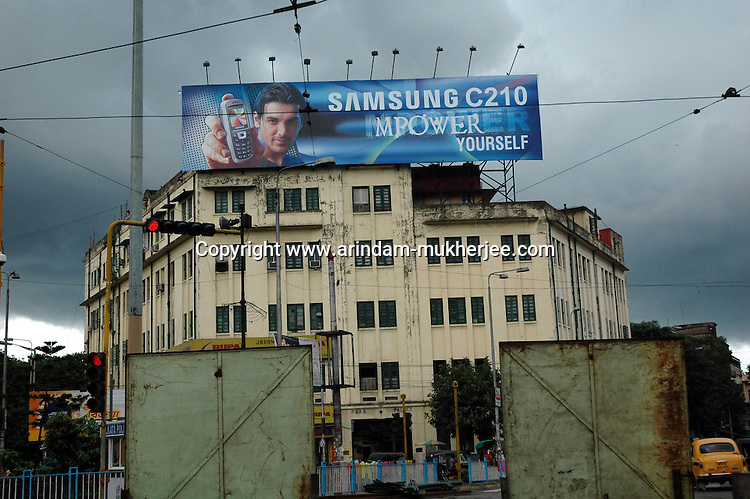 A bill board of Samsung. Kolkata India . Arindam Mukherjee