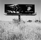 Tucson, Arizona.USA.March 14, 2007..One of many advertisements to join the USA military (Marines) dot the vast landscape of Arizona where more then 100 soldiers have now been killed in Iraq or Afghanistan.